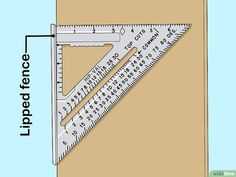 Image titled Use a Speed Square Step 2 Used Woodworking Tools, Woodworking Guide, Wood Tools, Woodworking Techniques, Woodworking Projects Diy, Custom Woodworking, Woodworking Chisels, Diy Wooden Projects, Wooden Diy