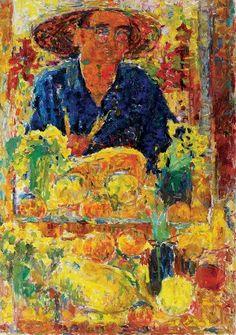 Self Portrait - Rafael Wardi , 1959 Finnish Oil on canvas Modern Art, Contemporary Art, Visual Map, Art Academy, Postmodernism, Mellow Yellow, Vincent Van Gogh, Helsinki, Art Museum