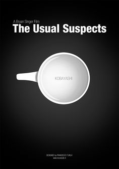 The Usual Suspects (1995) ~ Minimal Movie Poster by Francesco Turla #amusementphile