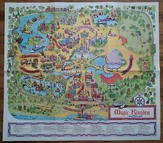 Vintage Walt Disney World 1970u0027s Numbered Park Map