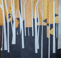 Quilt Depicting Aspen Trees