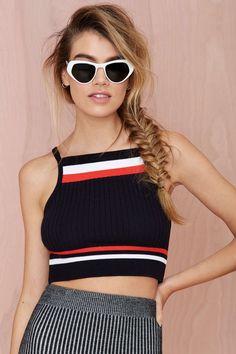 Follow the Leader Ribbed Crop Top