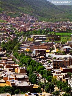 The beautiful City Marivan in the Kurdistan Province, Iran.