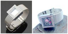 Designer Inspired Rhinestone Mesh Floating Locket Bracelet with 3 Free Charms $29.99 #pinkEpresents