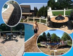 Ever wished you could have a stone paver deck around your above ground pool? With Silca System, you can!