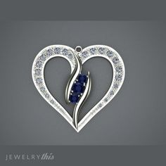 3D Jewelry Design: Romantic Modern Heart Locket Pendant, Antique, Birthday, Modern, Mother's Day, Heart style [2733-100198] » Jewelrythis