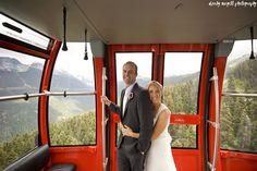 Not everyone gets to say they hung 436m above the valley floor on their wedding day #WhistlerWedding | Photo: @darbymagill