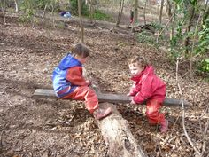 """'If you go down in the woods today' shares a child-made see-saw. Lovely bit of problem solving for the children ("""",)"""