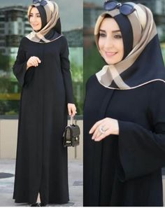 College outifit with hijab/hijab fashion for everyday/hijab dress style Hijab Style Dress, Hijab Chic, Hijab Outfit, Moslem Fashion, Modele Hijab, Mode Abaya, Hijab Trends, Abaya Designs, Muslim Dress