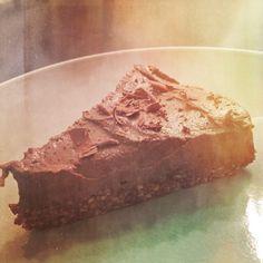 Vegan & gluten free tart!  Carob,  raw cacao, hazelnut & orange