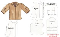 Рубашка Pattern Квартиры - Нажмите для просмотра в полном размере   Oh fantastic! A tutorial for the Leia shirt and the directions are in Russian! I haven't taken Russian in over 20 years!
