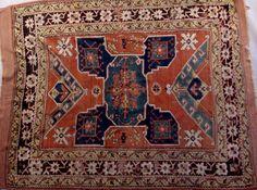 "19th Century Kazak rug, 7' x 5'6""."