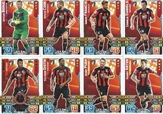 Match Attax 2015/2016 AFC Bournemouth Team Base Set Plus Star Player, Captain & Away Kit Cards 15/16 #bournemouth