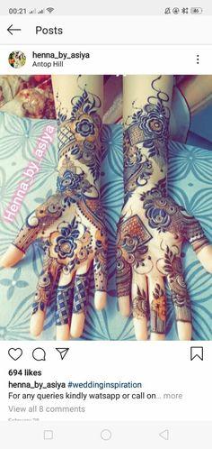 Mehndi Designs Front Hand, Khafif Mehndi Design, Henna Tattoo Designs Simple, Stylish Mehndi Designs, Latest Bridal Mehndi Designs, Full Hand Mehndi Designs, Mehndi Designs For Girls, Mehndi Design Photos, Wedding Mehndi Designs