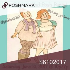 PARTY ANNOUNCMENT!  My sister and I have BOTH been chosen to co-host our second posh parties, together, on the same night! We are both plus size fashionistas and will be giving special consideration to plus size, posh compliant closets! No theme just yet, but already looking for amazing items. Please share and spread the word! Go check out @plump_petunia and give her some love! Lane Bryant Tops
