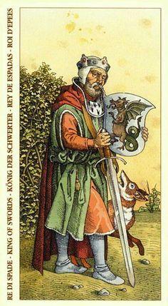 King of Swods - Albrecht Dürer Tarot (2002) by Giacinto Gaudenzi
