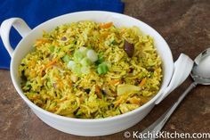 ... uses fresh summer vegetables and Indian spices to flavor the rice