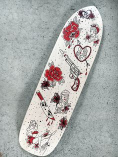 Artist, Taylor Patton tells us about her love for tattoo culture and the board she designed for Babes Ride Out.