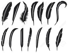 Illustration of the collection of feathers feather collection, feather silhouette, feather set vector art, clipart and stock vectors. Silhouettes, Royalty Free Images, Royalty Free Stock Photos, Feather Vector, Old School Tattoo Designs, Tattoo Flash Art, Clipart, Vector Art, Illustration
