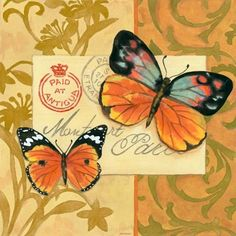 Multi Poste Butterflies by Jennifer Brinley | Ruth Levison Design