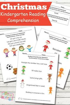 It's time to practice those reading skills and to bring out the spooky with these Christmas Reading Comprehension Worksheets for Kindergarten! Free Kindergarten Worksheets, Kindergarten Reading, Worksheets For Kids, Printable Worksheets, Free Printables, Super Worksheets, Kindergarten Christmas, Christmas Math, Preschool Printables