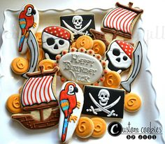 Pirate Cookies | Flickr - Photo Sharing! http://customcookiesbyjill.com/