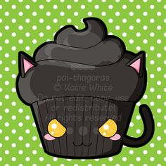 Black Cat Cupcake by pai-thagoras.deviantart.com on @deviantART