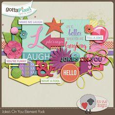 Joke's On You Element Pack :: Gotta Pixel Digital Scrapbook Store by Luv Ewe Designs $3.00