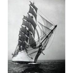 Tall ship sailing in the sea Canvas Art - (24 x 36)