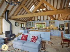 An oak framed porch can provide a welcoming entrance to your home, completely transforming its look and… Oak Framed Extensions, Oak Frame House, Kitchen Diner Extension, English Decor, Cottage Interiors, Brickwork, Living Spaces, Timber Frames, Extension Ideas
