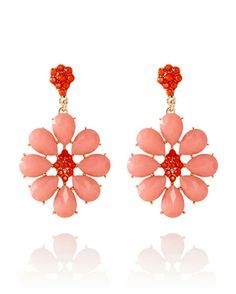 Floral Gemstone Earrings from THELIMITED.com #TheLimited