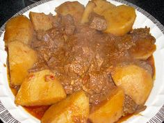 My Cuban Traumas: Carne con Papas - Cuban Beef and Potato Stew