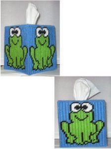 plastic canvas free designs   Frog Tissue Box Cover Plastic Canvas Pattern   eBay