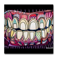 Tooth Dental Anatomy Art Tile Ceramic Coaster Medical Science Dentist Print on Tile (HG867)