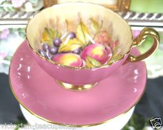 From previous pinner:  my favorite teacup of all cotton candy Aynsley ~ Well then I know where this must be repinned!