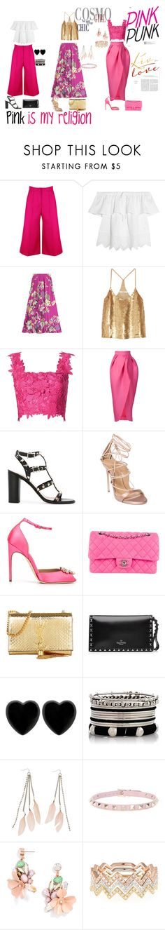 """pink summer"" by diacojocaru ❤ liked on Polyvore featuring Madewell, Etro, TIBI, Monique Lhuillier, Valentino, Dsquared2, Brian Atwood, Chanel, Yves Saint Laurent and Dollydagger"