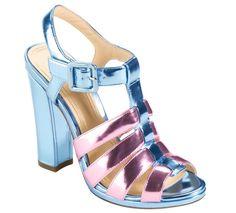 Cole Haan Jen & Oli Chelsea Collection Sandals in Metallic Light Blue-Pink