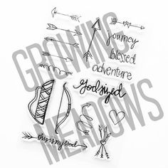 God Sized Adventure Clear Stamp Set Christian Stamps Adventure Journey Blessed Arrows Arrow Sketchy Scrapbook Stamping Bible Journaling
