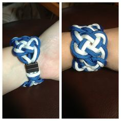 Double Celtic knot paracord bracelet with magnetic clasp $25