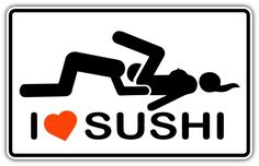 "I Love Sushi Adult Funny Car Bumper Window Sticker Decal 5""X3"" in Collectibles, Transportation, Automobilia 