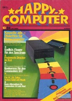 """Cover of German computer magazine """"Happy Computer"""" issue Cover of German computer magazine """"Happy Computer"""" issue 10/1984"""