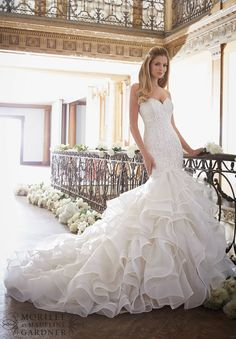 View Dress - Mori Lee Bridal FALL 2016 Collection: 2879 - White/Silver, Ivory/Silver, Light Gold/Silver   MoriLee Bridal