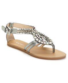 370ca27c495f Nine West Tease Bling Sandals Shoes - Macy s