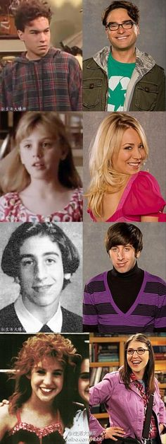 cast of the big bang theory when they were younger
