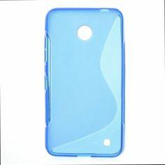 Lumia 630 sininen silikonisuojus.