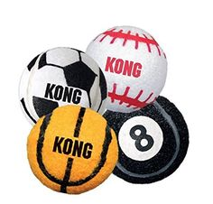 KONG Sport Balls are better than a tennis ball. Made with extra-thick rubber walls, these toys are tough enough for serious games of fetch. Give them a throw and watch your dog go crazy for these rugged, bouncy balls. Tough Dog Toys, Small Dog Toys, Small Dogs, Dog Fetch Toy, Outdoor Dog Toys, Kong Company, Dog Supplies, Dog Bed, Sports