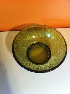 Vintage Green 1975 round glass vase, flower pot, planter  FTD picclick.com