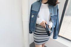 L830 Wholesale Fashion Clothing 2017 Women Denim Jacket Fall And Winter Split Joint Jean Coats Plus Size Women Clothing - Buy Lady Denim Jacket,Women Winter Coat,Korean Fashion Clothing Plus Size Product on Alibaba.com