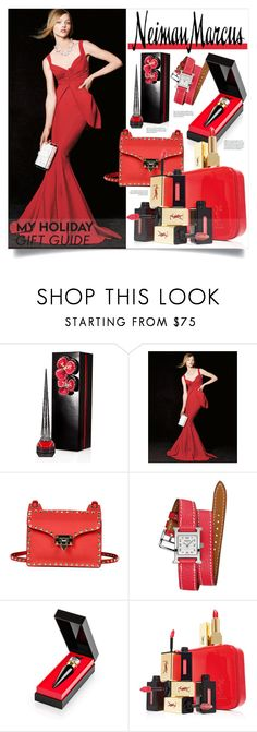 """The Holiday Wish List With Neiman Marcus: Contest Entry"" by miee0105 ❤ liked on Polyvore featuring Christian Louboutin, La Petite Robe di Chiara Boni, Valentino, Neiman Marcus, Hermès and Yves Saint Laurent"