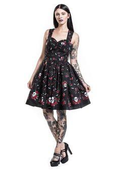 """Abito di media lunghezza """"Aconite Dress"""" del brand #HellBunny."""